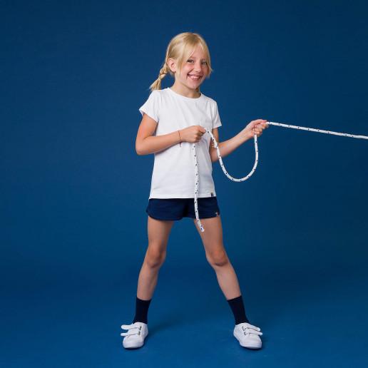 t shirt dla dziewczynki biały