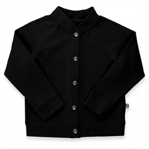 Czarna bluza bomberka dla dziewczynki