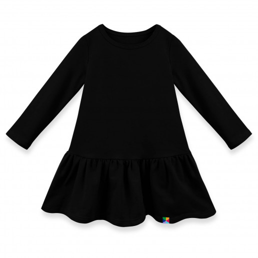 czarna sukienka dresowa dla dziewczynki