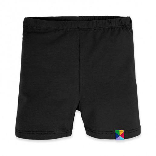 czarne krótkie legginsy dla dziewczynki