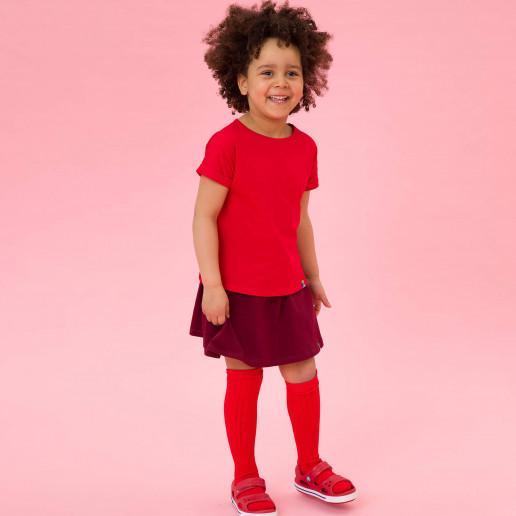 czerwona koszulka dla dziewczynki w dobrej cenie