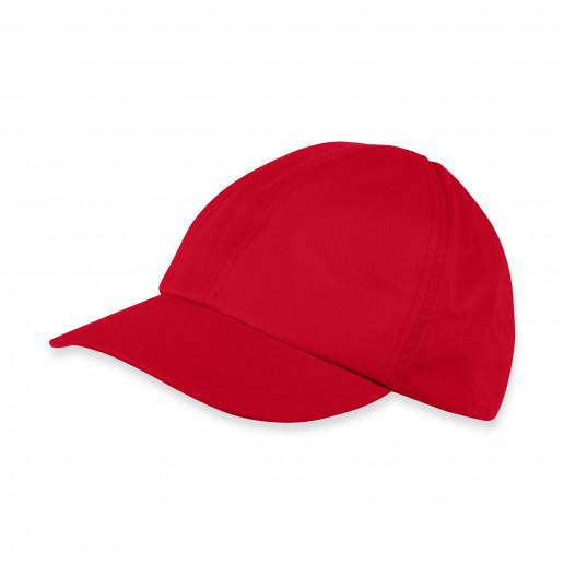 czerwona czapka z daszkiem dla chłopca