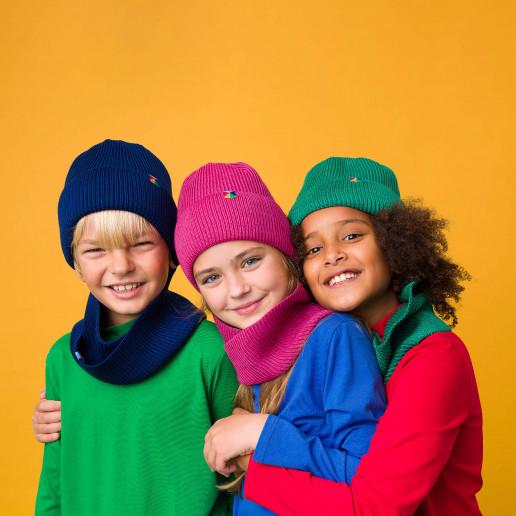 czapka z wełny merino dla dziewczynki