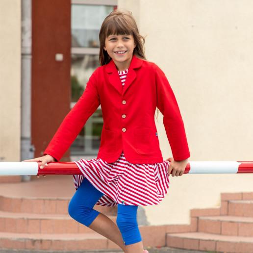 czerwona marynarka dla dziewczynki