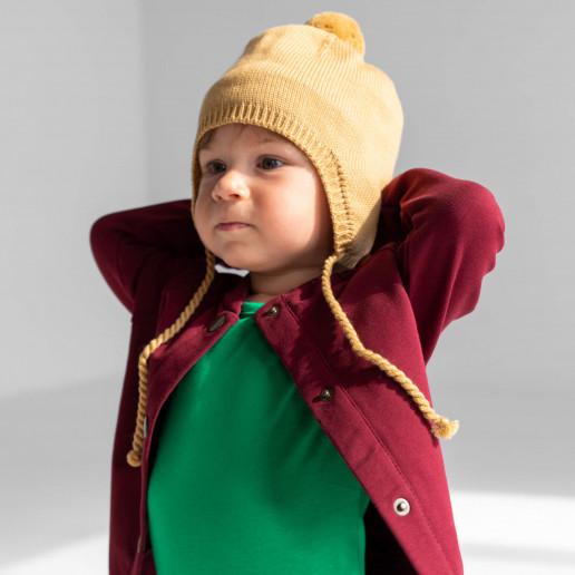 Czapka z Wełny Merino niemowlęca