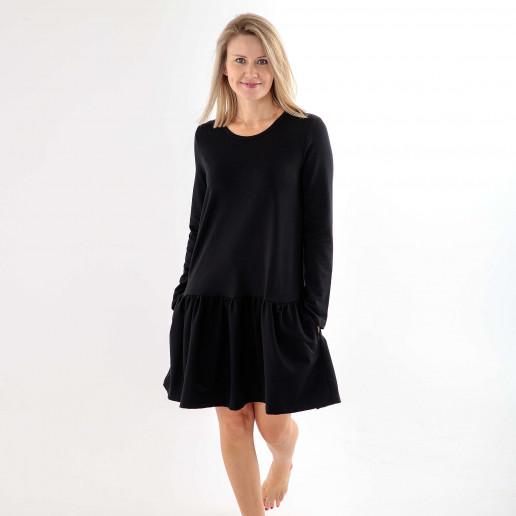 czarna sukienka damska dresowa