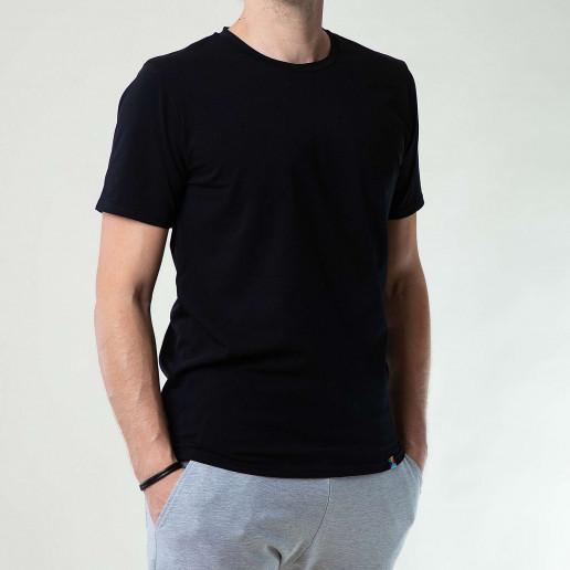 czarny T shirt męski