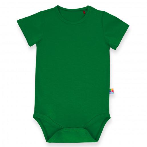Zielone body dziecięce z krótkim rękawem - MyBasic - Polski producent