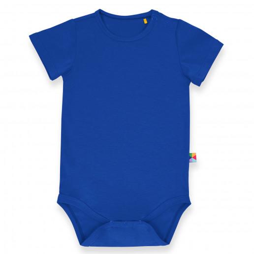 Niebieskie body niemowlęce z krótkim rękawem - Tanie, stylowe, ciepłe, modne