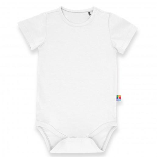 Białe body z krótkim rękawem dla niemowlaka, noworodka i dziecka - modne, tanie, markowe, eleganckie, stylowe, uniwersalne