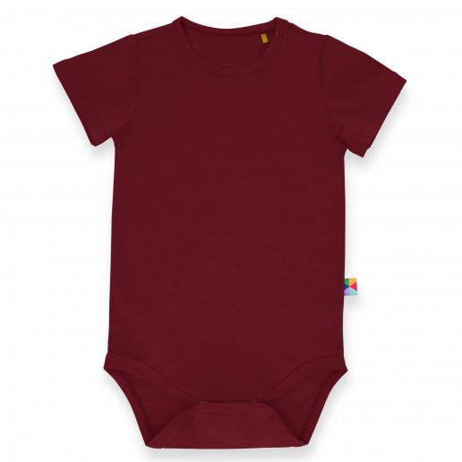 Bordowe body niemowlęce z krótkim rękawem - ciepłe, stylowe, markowe, słodkie, tanie, eleganckie