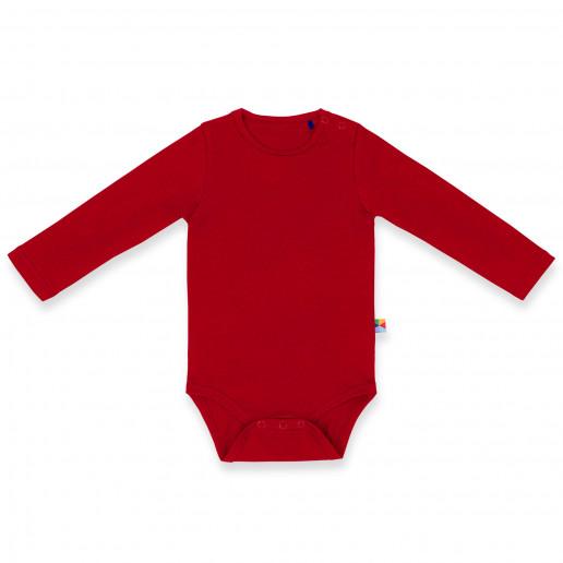 Czerwone body z dlugim rekawem dla niemowlaka, dziecka, noworodka - tanie, modne, ciepłe, bawełniane