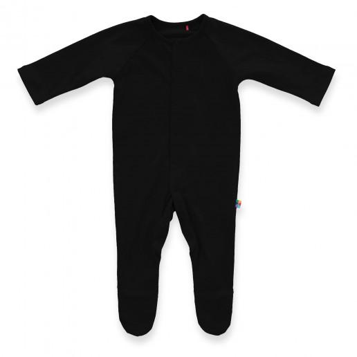 Czarny pajacyk niemowlęcy - tani, modny, elegancki, wygodny