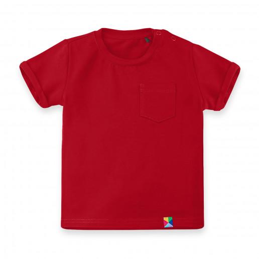 Czerwona koszulka dziecięca - czerwona bluzka dziecięca - czerwony t-shirt dla dzieci