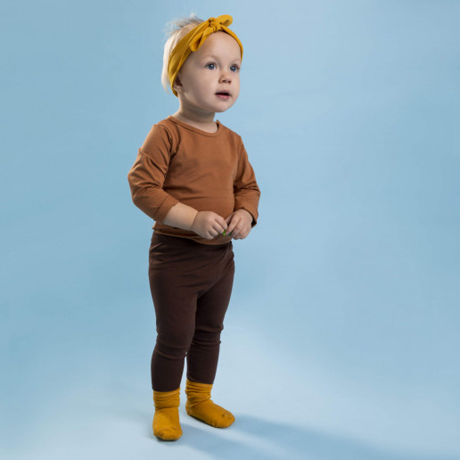 brązowe legginsy dla dzieci