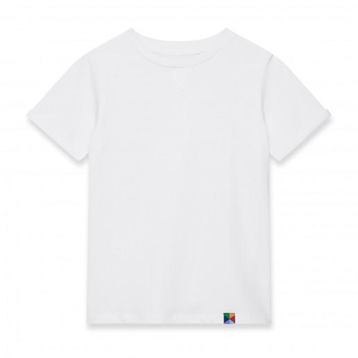stylowy biały t shirt chłopięcy w dobrej cenie
