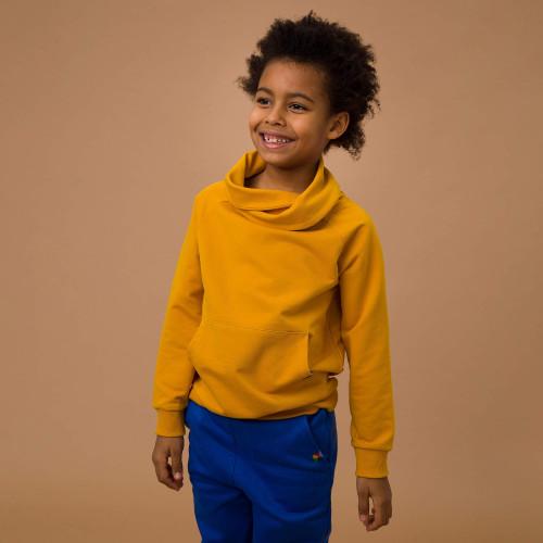 bluza z szalem dla chłopca