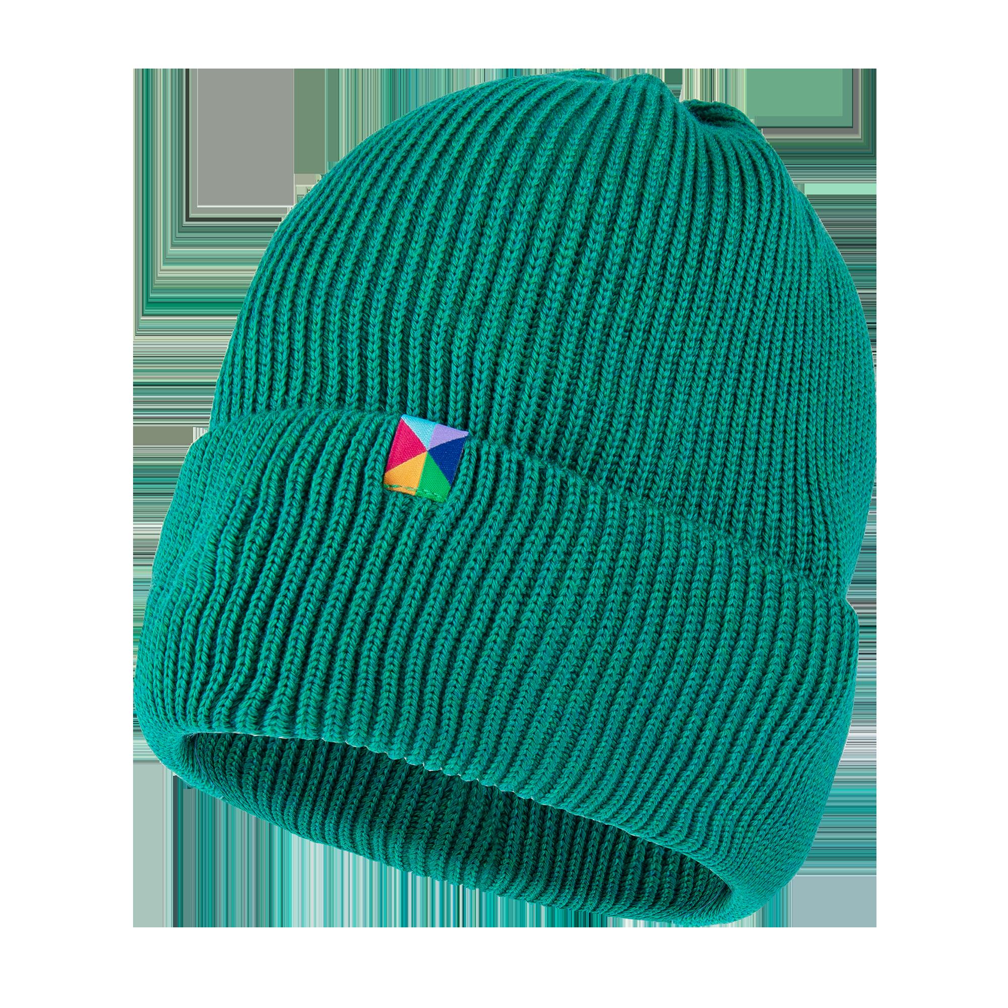 czapka zielona merino