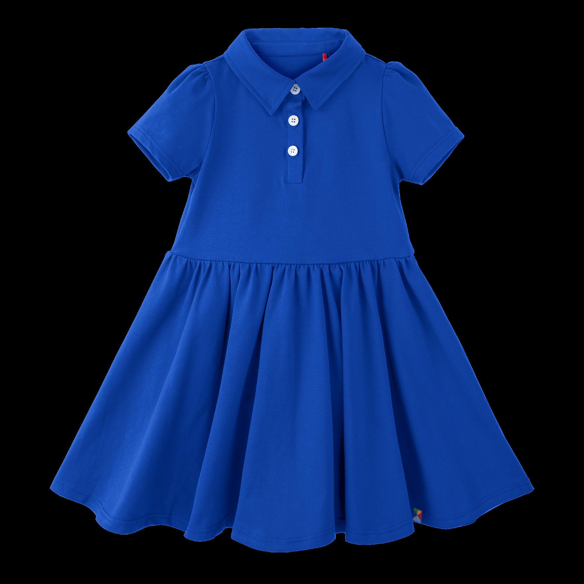 niebieska sukienka polo